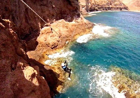 Gran Canaria coasteering zipline