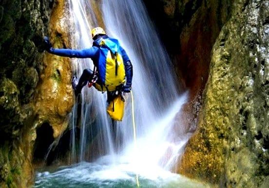 Gran Canaria canyoning abseil waterfalls