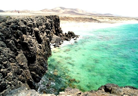Crystalline water at El Cotillo beach Fuerteventura