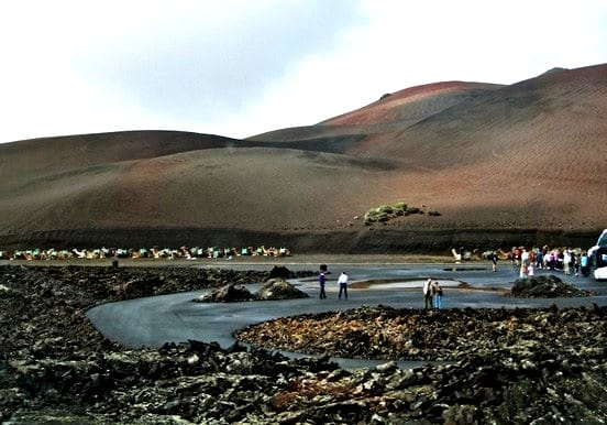 Timanfaya national park the fire mountain