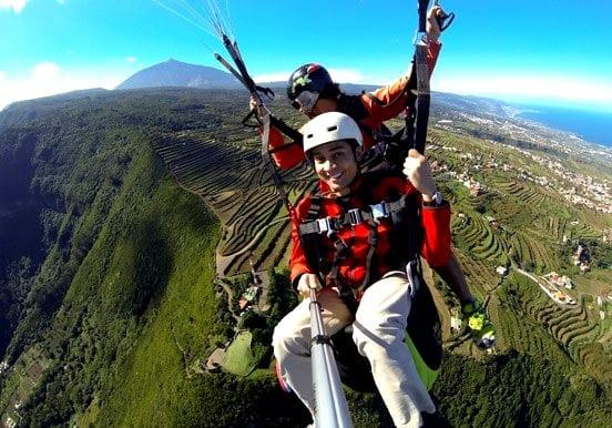 Stunning Tenerife landscapes on a paraglide