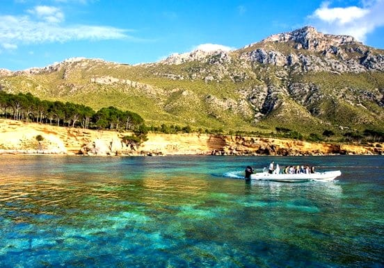 Mallorca boat trip in Llevant Natural park