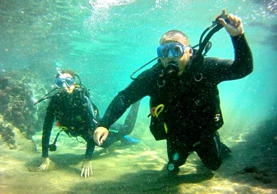 Diving tester in Lanzarote