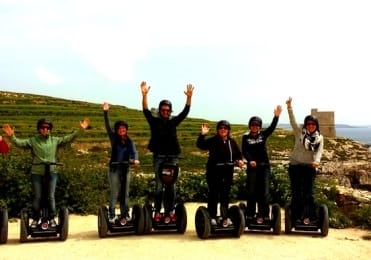 Have fun with friends in Gozo on segway tour