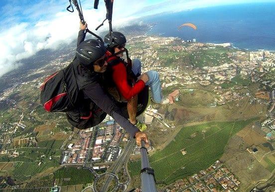 Taucho to Costa Adeje tandem paragliding