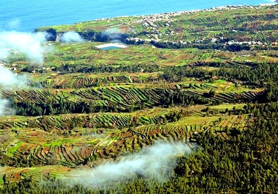 Tenerife helicopter tour over scenic landscape