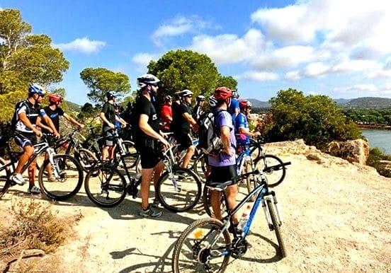 Mountain bike tour in Santa Eulalia coastline
