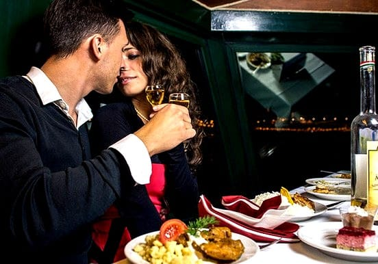 Have romantic dinner while cruising on the Danube river