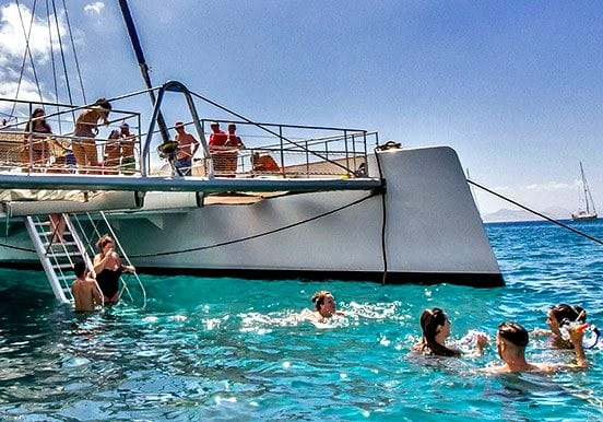 Catamaran with swim and snorkel Lanzarote