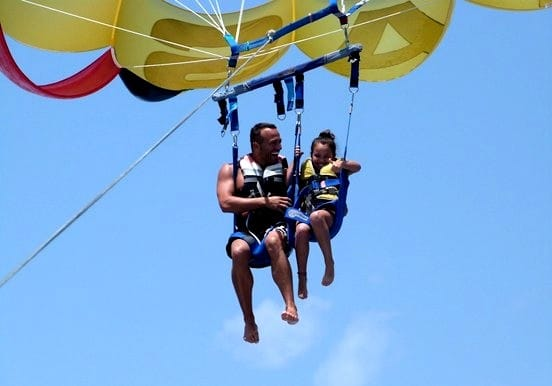 Parasailing way up high in Tenerife booster pack 1