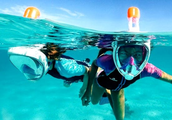 Full face snorkelling mask Lanzarote