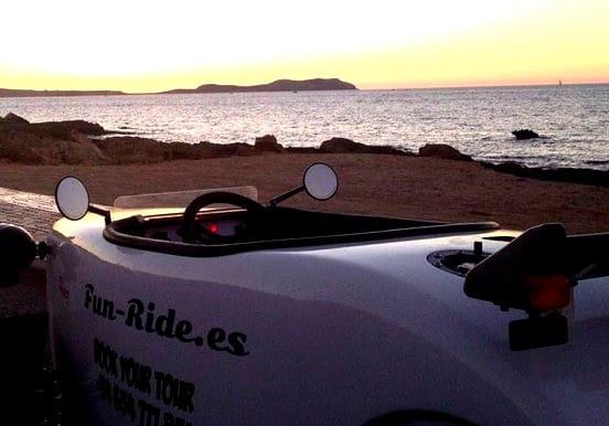 Hot rod car for Ibiza sunset tour