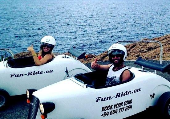 Swimming hot rod tour in Ibiza