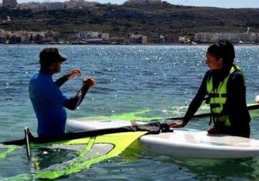 Learn how to windsurf in Malta taster