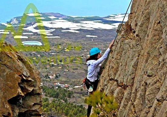 Rock climbing in La Palma