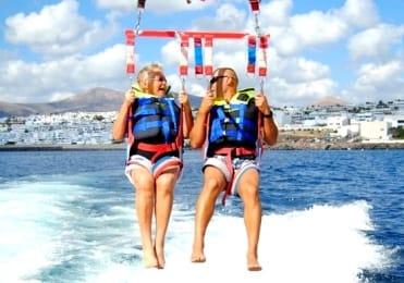 Parasailing for everyone in Puerto del Carmen