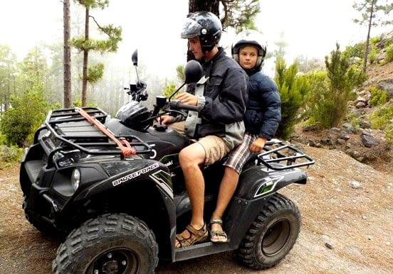 Quad tour in foreast track near Teide