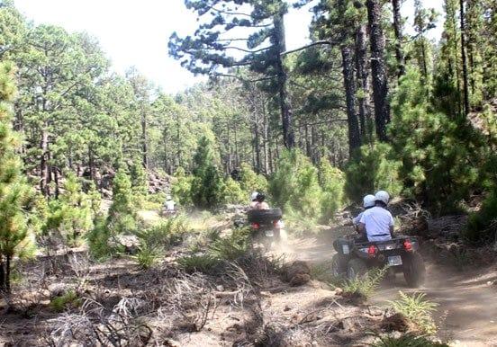 Tenerife forest quad and jetski combo tour