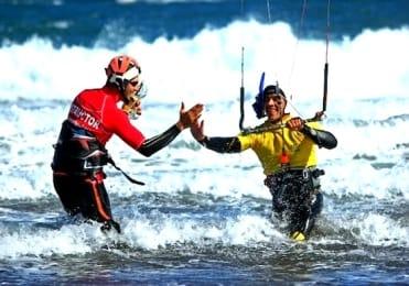 Learn to kitesurf body-drag day 2