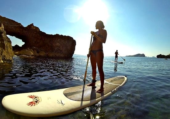 Stand up paddle excursion in Ibiza coast