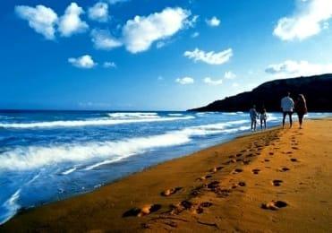 Beautifu Ramla beach of Gozo island