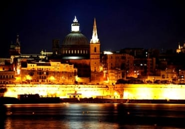 Enchanting Valletta at night