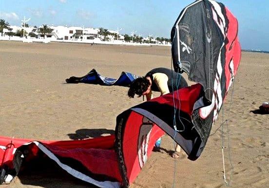 Kitesurf in Lanzarote beach