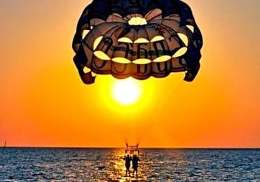 Sunset paragliding ibiza