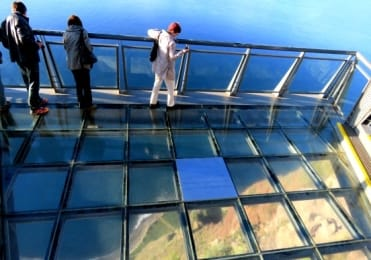 Glass bottom lookout point with impressive view Madeira