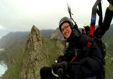 Paraglide over Taganana mountains