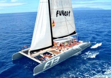 Holiday catamaran sailing in Tenerife
