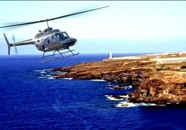 Helicopter tour to view Tenerife coastline