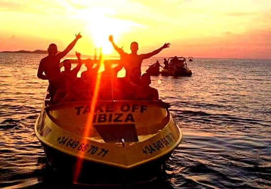Sunset jetboat in Ibiza