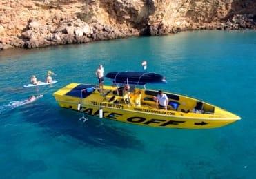 Ibiza speedboat tour with beach toys