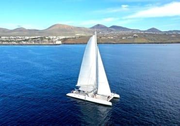 Sailing on catamaran in Lanzarote platinum tour