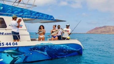Fun fishing trip in around lobos island Fuerteventura