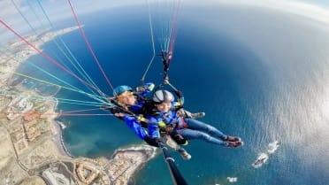 Admire impressive landscape on paragliding Tenerife