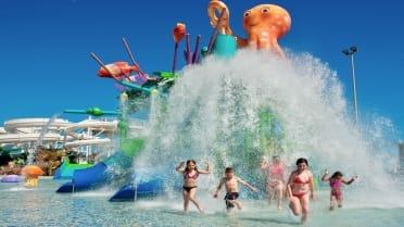 Octopus water kids slides Lanzarote