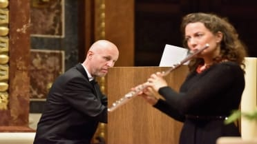 Budapest organ performance with flute
