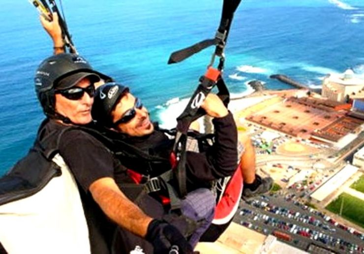 Paragliding over the sky of Gran Canaria