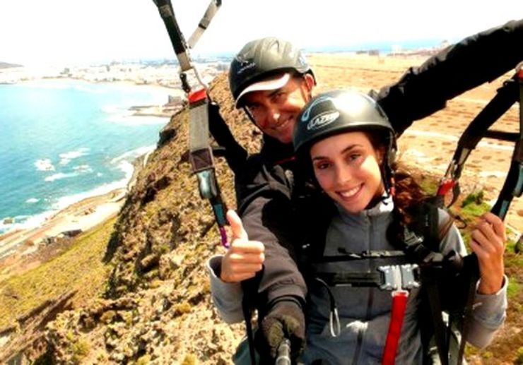 Tandem paragliding in Gran Canaria with guide
