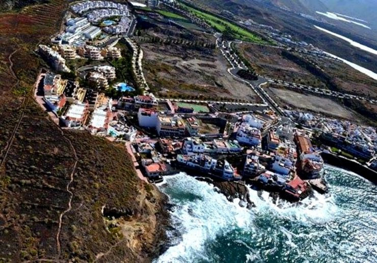 Helicopter tour view of south Tenerife coastline