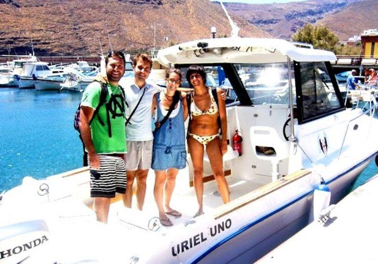 Private charter boat to visit Los Organos La Gomera