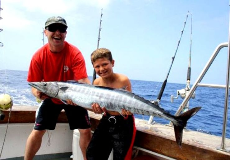 Fishing trip for active angler and spectator