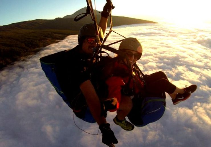 Izaña to Guimar paragliding route Tenerife