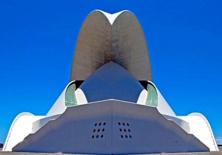 Futuristic structure of Auditorium of Santa Cruz