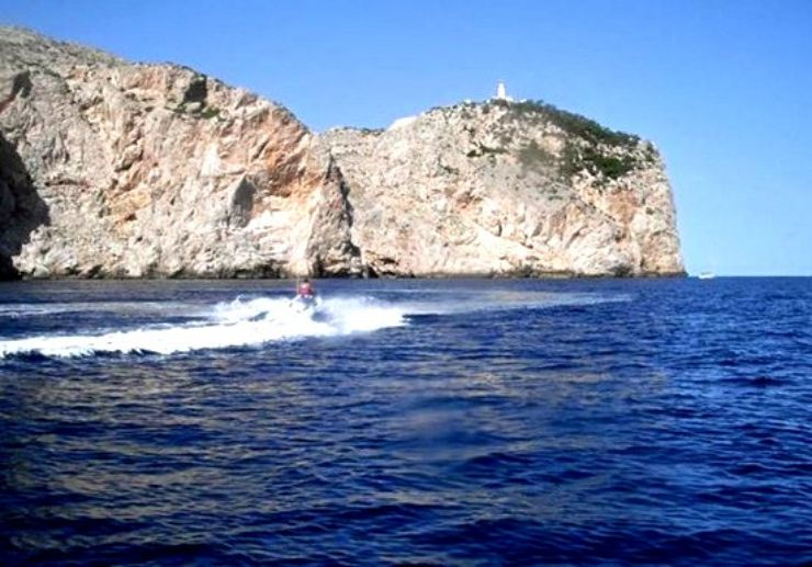 Jetksi to lighthouse of Cap Formentor