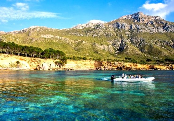 Mallorca boat trip in Llevant Natural park