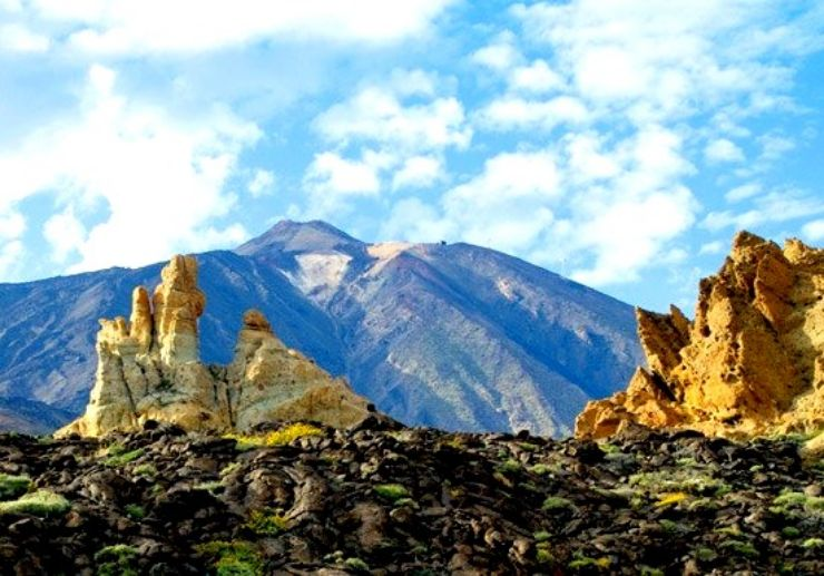 Impressive rock formation on Teide