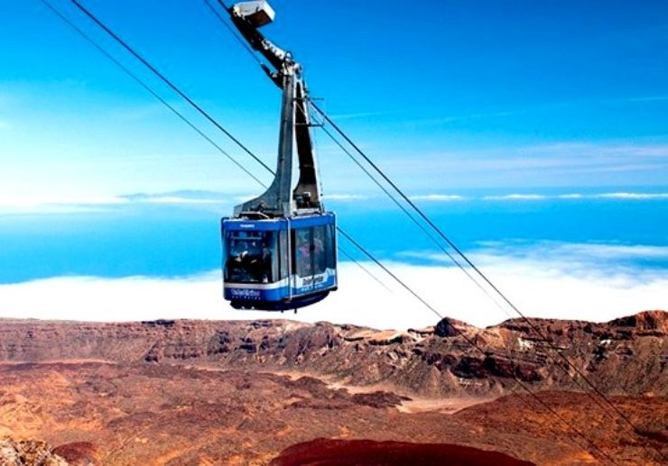 Ride cable car above the cloud in Teide
